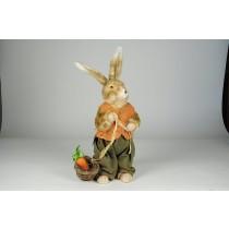 """Rabbit Beige Fur w/Org/Grn Clothes Asst*2 16"""""""