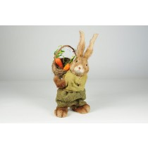 Rabbit Brown Jute w/Grn Clothes 11""