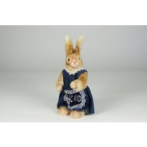 Rabbit Beige Fur w/Blu Dress 9""
