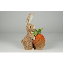 "Rabbit Nat. Jute w/Big Carrot 9"""