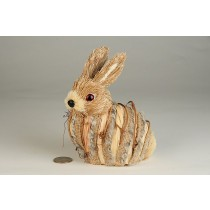 "Rabbit Nat. Jute w/Burlap Wrap 5"""
