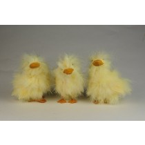 Duck Fuzzy Yellow Asst*3 4""