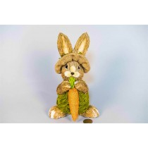 Rabbit Brn Grass w/Grn Burlap/Carrot 8.5""