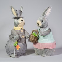 "Rabbit Grey Pastel Asst*2 16"""