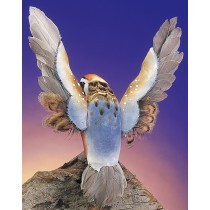 Bird Quail Blue Flying 8""