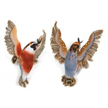 Bird Quail Blue Flying 6""