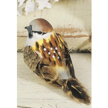 Bird Sparrow Brown 3""