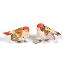 """Bird Red Head Asst w/Clip 3"""""""
