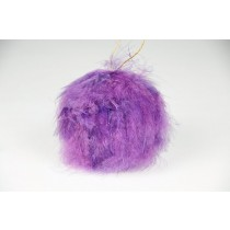 Ball Purple Fuzzy Feather