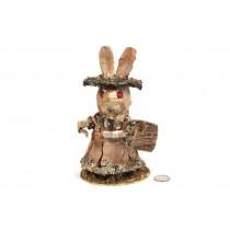 "Rabbit Birch Bark Standing w/Basket 8"""