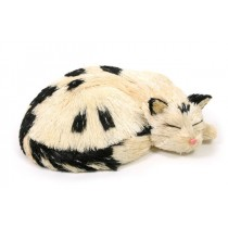 "Cat Black/White Jute Sleeping 10""x3"""