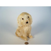 Dog Nat. Jute Sitting 6""
