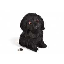 Dog Black Jute Sitting 6""