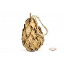 Pear Gold Cotton Pod Glit w/Hanger 5""