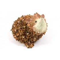 Hedgehog Nat. Nut Shell w/Twig 6""