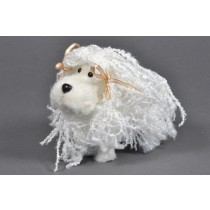 "Dog White Yarn 4""x 3"""