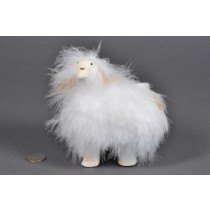 Sheep Fuzzy White 5.5""