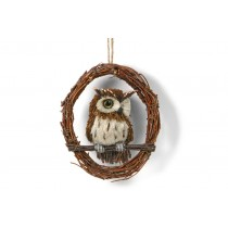 Owl on Branch 6""