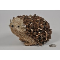 Hedgehog Brown Nutshell w/Twig 6""