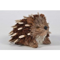 Hedgehog Brown Moss/Twig Sitting 5.5""