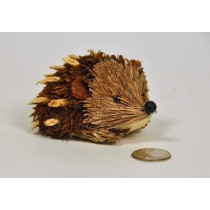 Hedgehog Brown Moss/Twig Sitting 4""