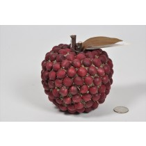Apple Red Wood Bead 4.5""