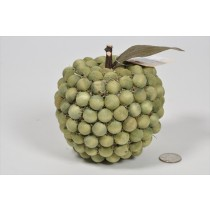 Apple Lte Green Wood Bead 4.5""