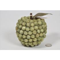 "Apple Lte Green Wood Bead 4.5"""