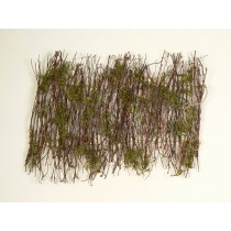 "Fence Brown Twig w/Moss 13.5"""