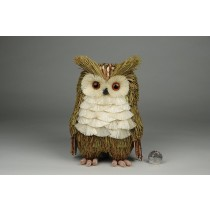 Owl Green Grass w/Jute & Twig 7""