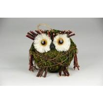 "Owl Green Moss & Twig 4"""