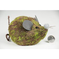 Mouse Brown Grass w/Moss 5.5""