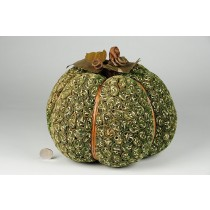 "Pumpkin Green Leaf Bundling 9""x7"""