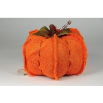 "Pumpkin Orange Burlap Hand Stitch 8""x5.5"""