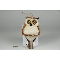 Owl Jute Feather Tail 5""