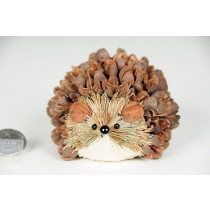 Hedgehog Brown/Grn Grass w/Shell Lying 2.5""