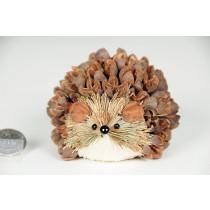 "Hedgehog Brown/Grn Grass w/Shell Lying 2.5"""