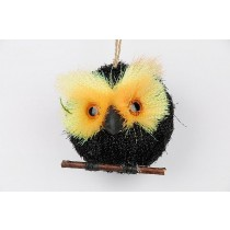 Owl Black Glit 3""
