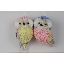 Owl Multi- Color Asst*2 4""