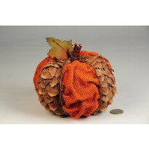 Pumpkin Orange Cone Chip/Burlap 5.5""