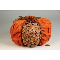 Pumpkin Orange Cone Chip/Burlap 8.5""