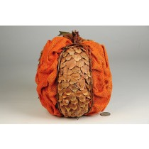 Pumpkin Orange Cone Chip/Burlap 8""