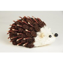 Hedgehog Brown Mini-Cone w/Twig 6""