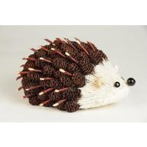 """Hedgehog Brown Mini-Cone w/Twig 6"""""""