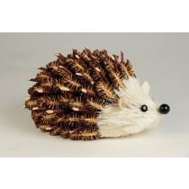Hedgehog Brown Half w/Twig Cones 6""