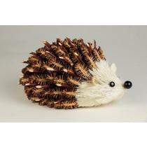 """Hedgehog Brown Half w/Twig Cones 6"""""""