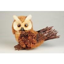 "Owl Pinecone/Sisal 5"""