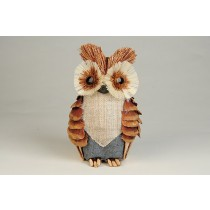 Owl Pinecone/Cloth 5""