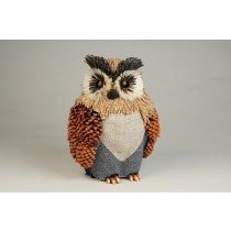 Owl Pinecone/Cloth 6""