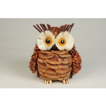 Owl Pinecone/Twig 4.5""